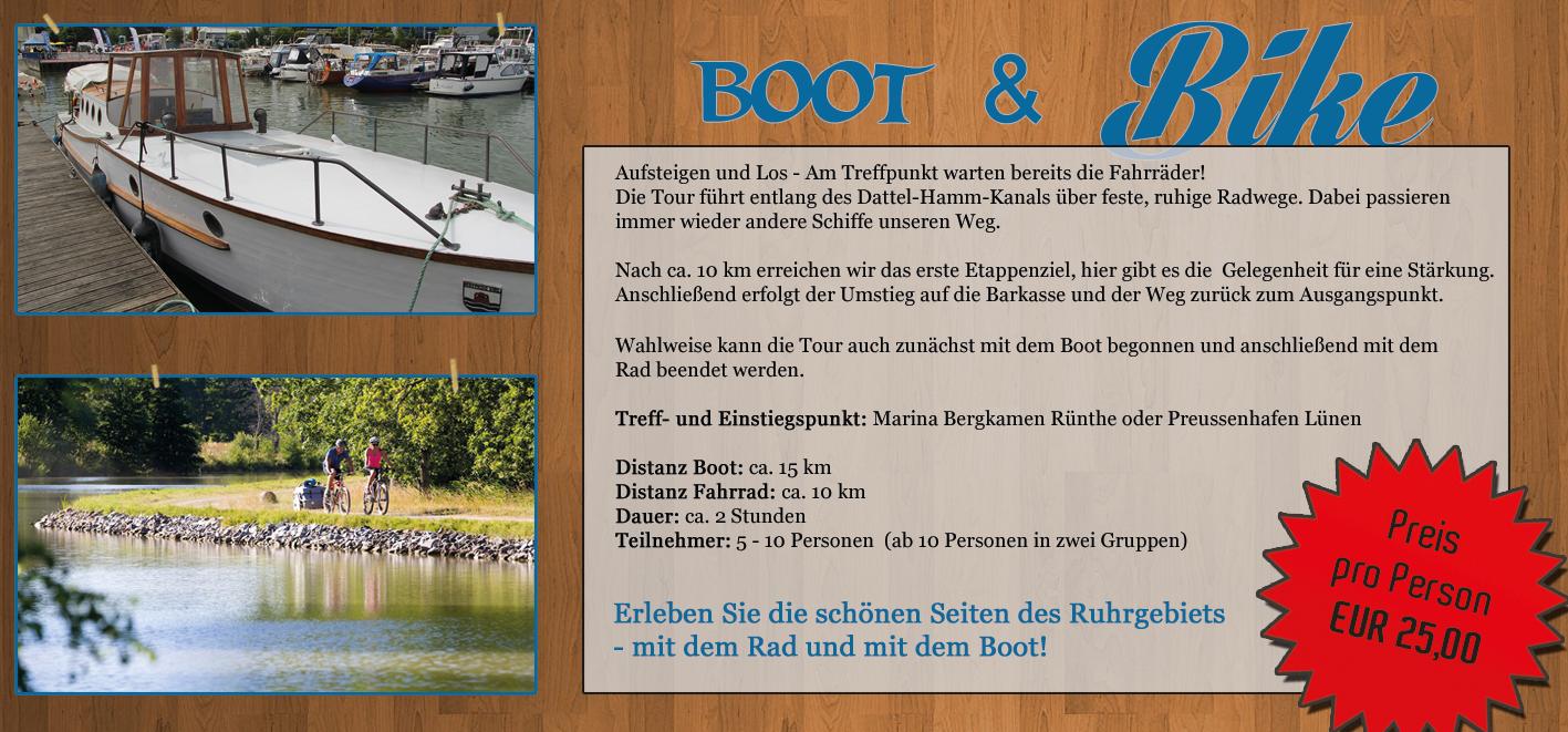 Boot & Bike Tour Ruhrgebiet